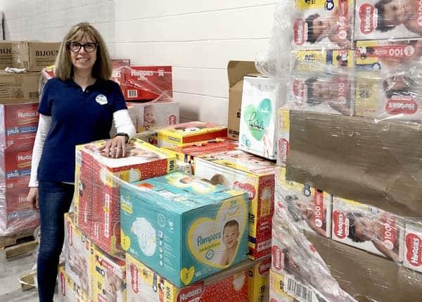 GPF grantee Fran Held preparing deliveries